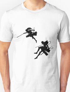 Attack on Titan siluet T-Shirt