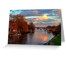 Evening on the Frome Greeting Card