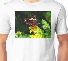 Black Butterfly on Yellow Lantana Unisex T-Shirt