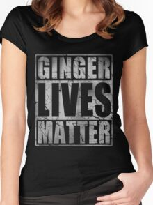 Vintage Fade Ginger Lives Matter St Patrick's Day Women's Fitted Scoop T-Shirt