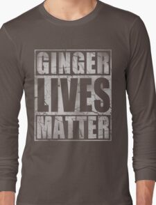 Vintage Fade Ginger Lives Matter St Patrick's Day Long Sleeve T-Shirt