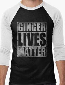 Vintage Fade Ginger Lives Matter St Patrick's Day Men's Baseball ¾ T-Shirt