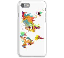 world map color iPhone Case/Skin