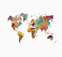 world map color Kids Tee