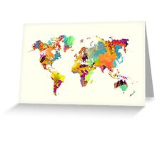 world map color Greeting Card