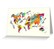world map text color Greeting Card