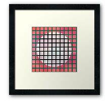 moon behind the screen Framed Print