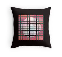 moon behind the screen Throw Pillow