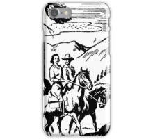 Vintage horse riding iPhone Case/Skin