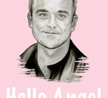 Pink Hello Angel Sticker