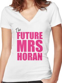 Mrs Direction Women's Fitted V-Neck T-Shirt