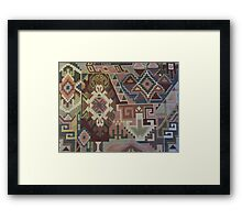 Geometric SouthWest Natural Colors Tapestry by Kirsten Framed Print
