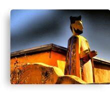 San Felipe de Neri Looms Over Old Town ABQ~Parade Ready Canvas Print