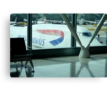 British Airways 747 ft Heathrow Terminal 5 Canvas Print
