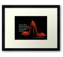 Ruby Red Slippers Framed Print