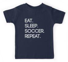 Eat. Sleep. Soccer. Repeat Kids Tee