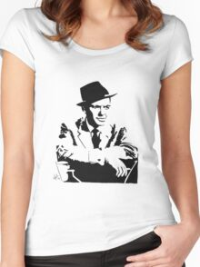Frank Sinatra silhouette Women's Fitted Scoop T-Shirt