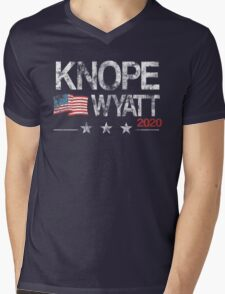 Knope 2020 Distressed Mens V-Neck T-Shirt