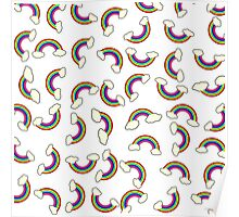 Cute and Colorful Rainbow Pattern Poster