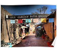 Garcia's Patio Shops~Old Town Albuquerque Poster