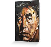 David Bowie Frankie Howerd Mash Up Greeting Card