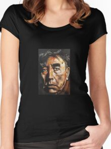 David Bowie Frankie Howerd Mash Up Women's Fitted Scoop T-Shirt
