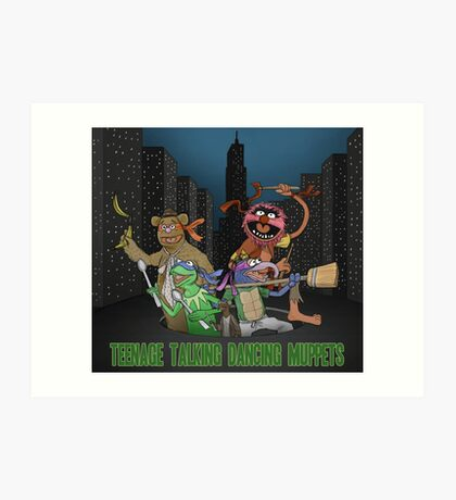 Teenage Talking Dancing Muppets Art Print