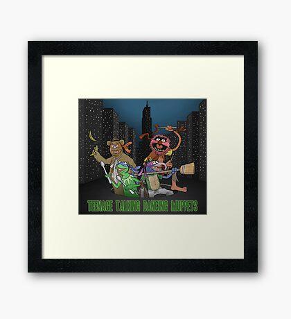 Teenage Talking Dancing Muppets Framed Print