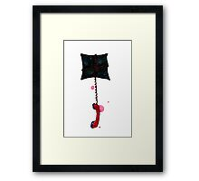 Space pillow and phone Framed Print