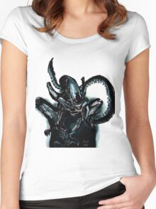 Xenomorph on the Hunt.  Women's Fitted Scoop T-Shirt