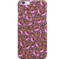 Cute Adorable Pink Brown Black Teddy Bear Collage iPhone Case/Skin