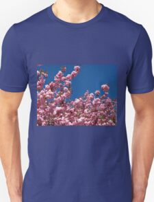 Pink Blossoms and Blue Sky Unisex T-Shirt