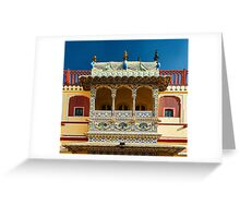 City Palace Porch Greeting Card