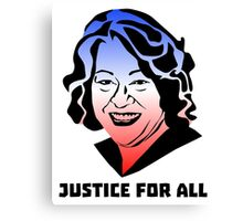 Justice for All, Sonia Sotomayor Canvas Print