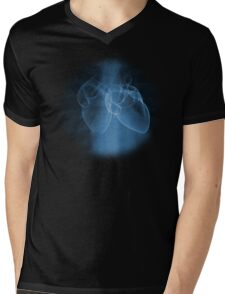 Two Hearts Mens V-Neck T-Shirt