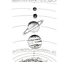 Our Solar System Photographic Print
