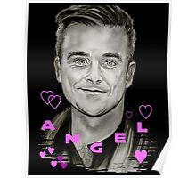 Angel-Heart in Black Poster