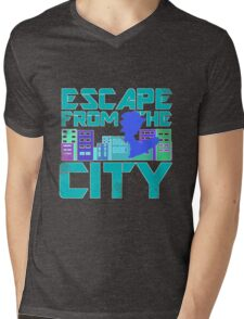 Escape from the City Mens V-Neck T-Shirt