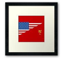 Man From Uncle Flag Mashup Framed Print