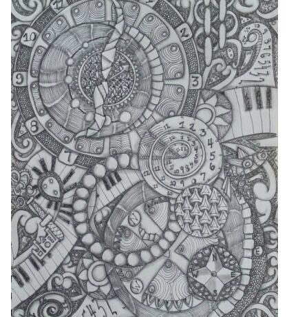 Steampunk Clocks & Compass Zendoodle Sticker