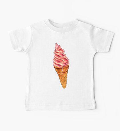 Strawberry Soft Serve Pattern Baby Tee