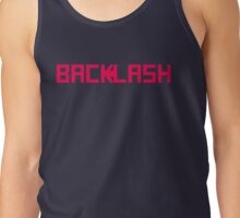 BACKLASH logo - pink Tank Top
