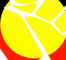 Raised Fist - Aboriginal Flag Sticker