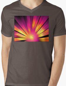 Magenta Sunrise Mens V-Neck T-Shirt