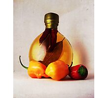 Peppers And Oil Photographic Print