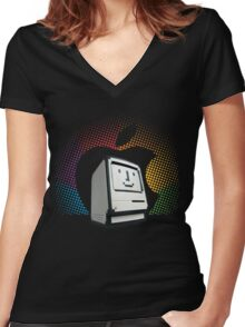 Happy Classic Women's Fitted V-Neck T-Shirt
