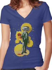 Opium for the People 2011 Women's Fitted V-Neck T-Shirt