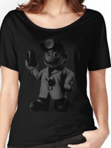B&W Dr. Mario Women's Relaxed Fit T-Shirt