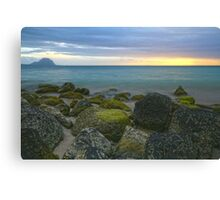 Sunset in Mauritius Canvas Print