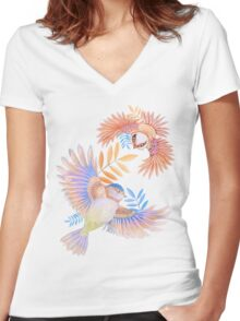 Birds of Paradise Women's Fitted V-Neck T-Shirt